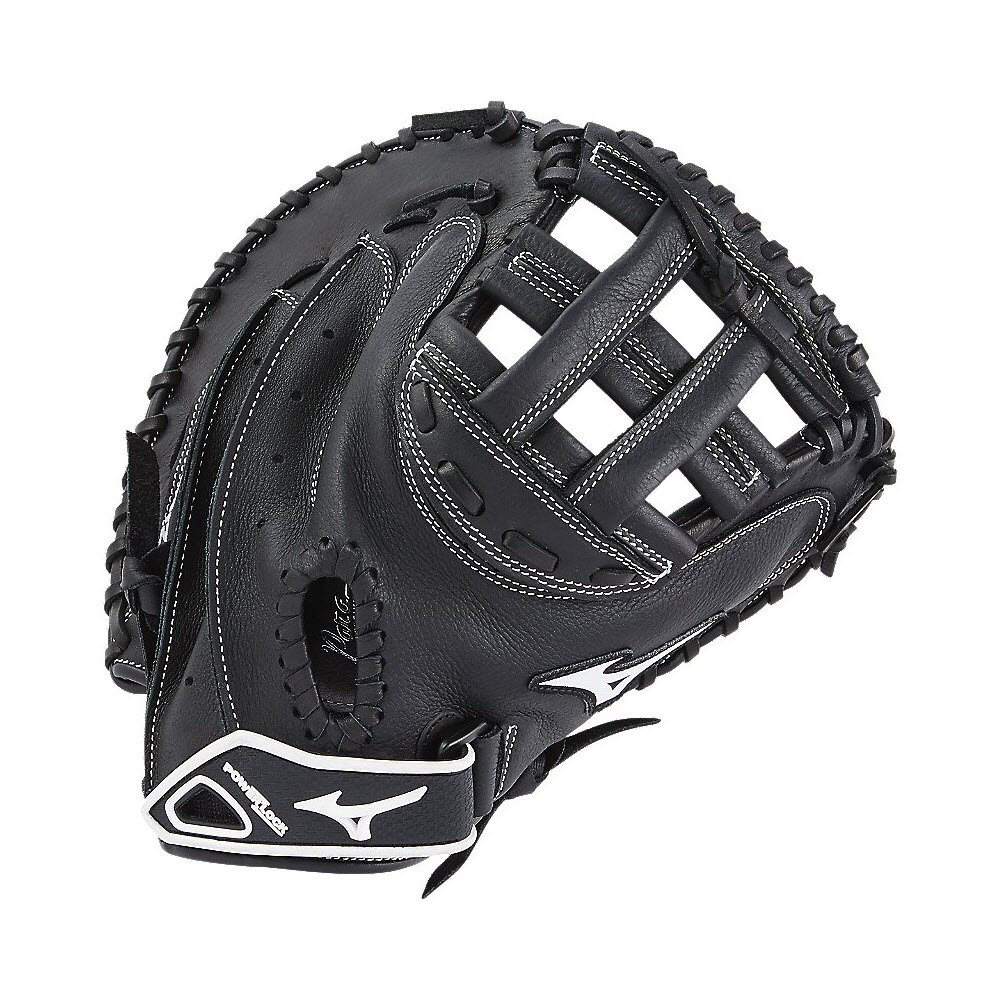 Mizuno Prospect Gxs102 Fastpitch Softball Catchers Mitts, Size 32.5, Black 312591