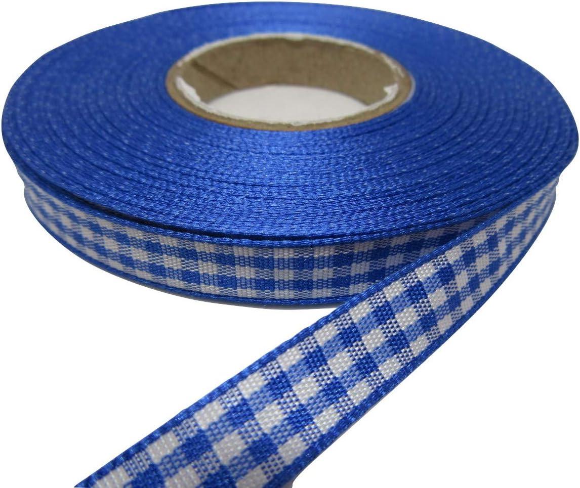 Color Azul Oscuro 10 mm x 25 m Beautiful Ribbon Rollo de Cinta de Cuadros