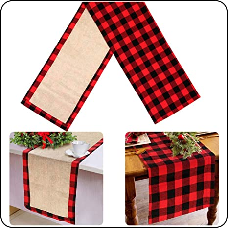 Buffalo Check Table Runner Cotton Buffalo Plaid Table Runners for Dining Kitchen