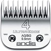 Andis Carbon-Infused Steel UltraEdge Dog Clipper Blade, Size-4 Skip-Tooth, 3/8-Inch Cut Length (64090)