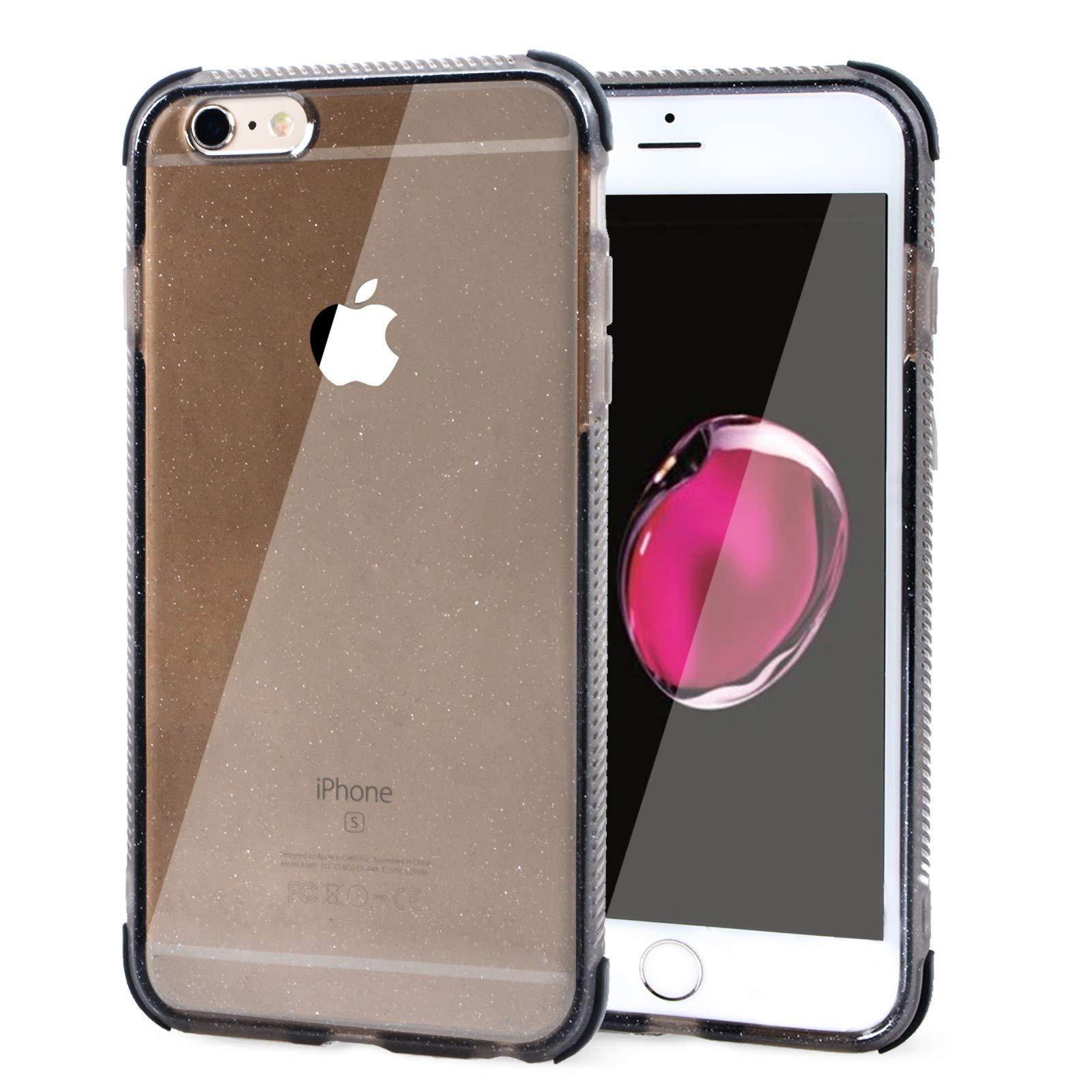 Voilamart iPhone 6 Plus Case, iPhone 6s Plus Case Bling Shiny Cute Pattern Design Sparkle Glitter Anti-Slick/Protective Case for iPhone 6/6s Plus 5.5 Inch, Black