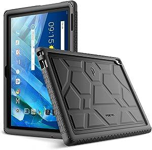 Lenovo Moto Tab Case, Poetic TurtleSkin Series [Corner/Bumper Protection][Grip][[Bottom Air Vents] Protective Silicone Case for Lenovo Moto Tab (X704A)/Lenovo Tab 4 10 Plus Tablet - Black
