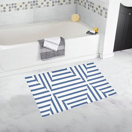 Amazoncom Geometric Shapes Stripes Blue White Unique Custom
