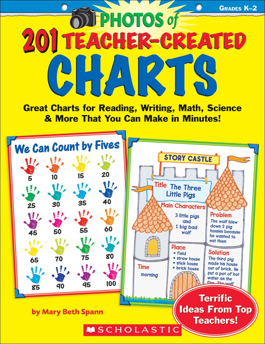 201 Teacher-Created Charts: Easy-to-Make, Classroom-Tested Charts That Teach Reading, Writing, Math, Science & More!: Grades K-2 Paperback – Aug 1 2008 Mary Beth Spann Scholastic Teaching Resources 0439243122 EDUCATION / General