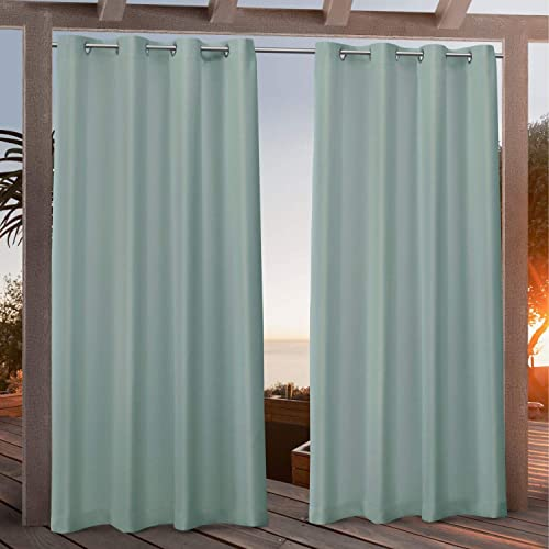 Exclusive Home Curtains Canvas Indoor/Outdoor Grommet Top Curtain Panel Pair - a good cheap window curtain panel