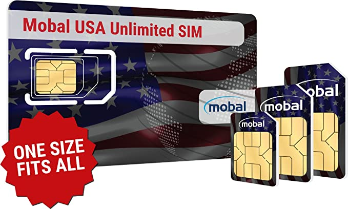 USA Unlimited SIM Card by Mobal  Unlimited Data & Texts  One month, only  $CDN 45!!