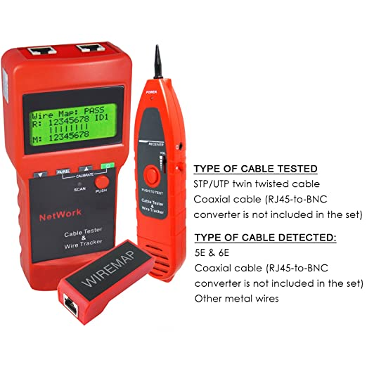 Network Ethernet LAN Cable Wire Line Tester and Measure Length Hunt Sort and Check: Amazon.es: Industria, empresas y ciencia