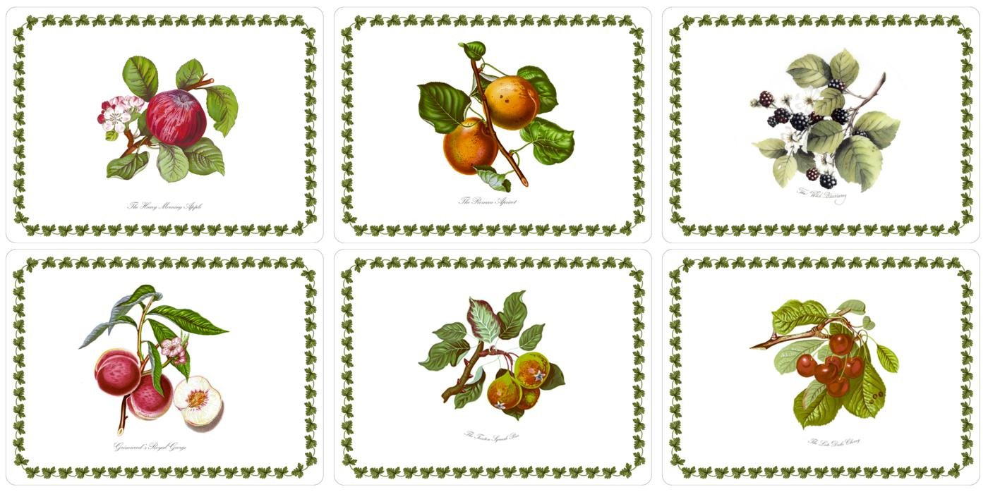 Portmeirion Pomona 'SMALL SIZE' Placemats 12 x 9'' (Box of 6)