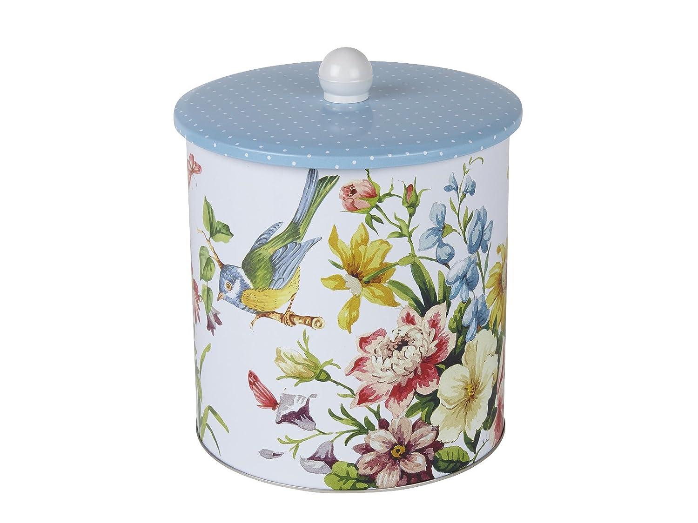 "Katie Alice ""English Garden"" Biscuit Tin Barrel by Creative Tops, 16 x 17.5 cm (6"
