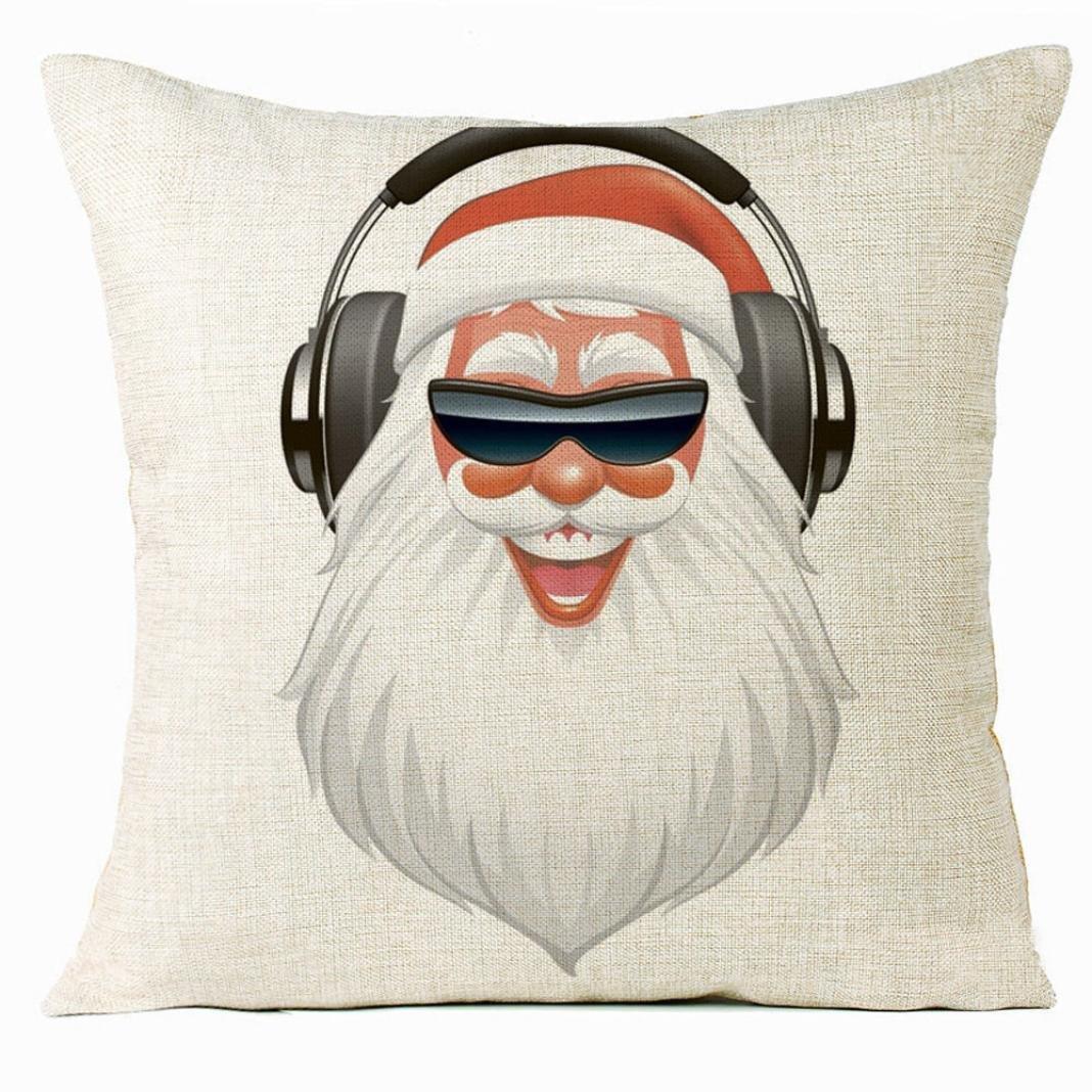 Christmas Pillow Case,Beautyvan Xmas Christmas Cat Sofa Home Decoration Festival Pillow Case Cushion Cover (4~G)
