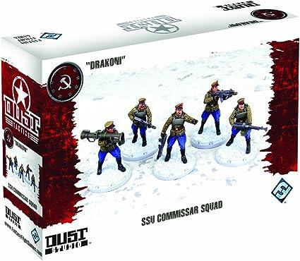 Dust Tactics SSU Commissar Squad- Juego de Estrategia: Amazon.es: Juguetes y juegos