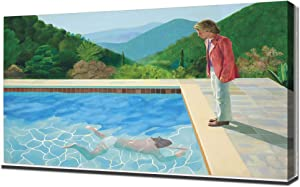 PingooPrints David Hockney - Portrait of an Artist - Pool with Two Figures - Canvas Art Print - Wall Art - Canvas Wrap