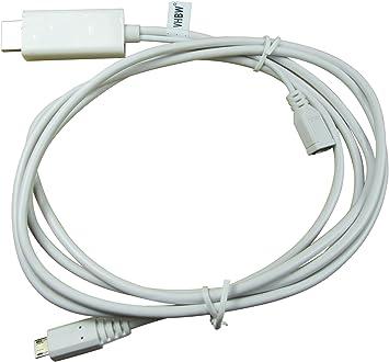 vhbw Adaptador MHL Compatible con LG Optimus 4X HD P880 Smartphone, Tablet -Clavija Macho USB Micro a Clavija Macho HDMI, 180cm: Amazon.es: Electrónica