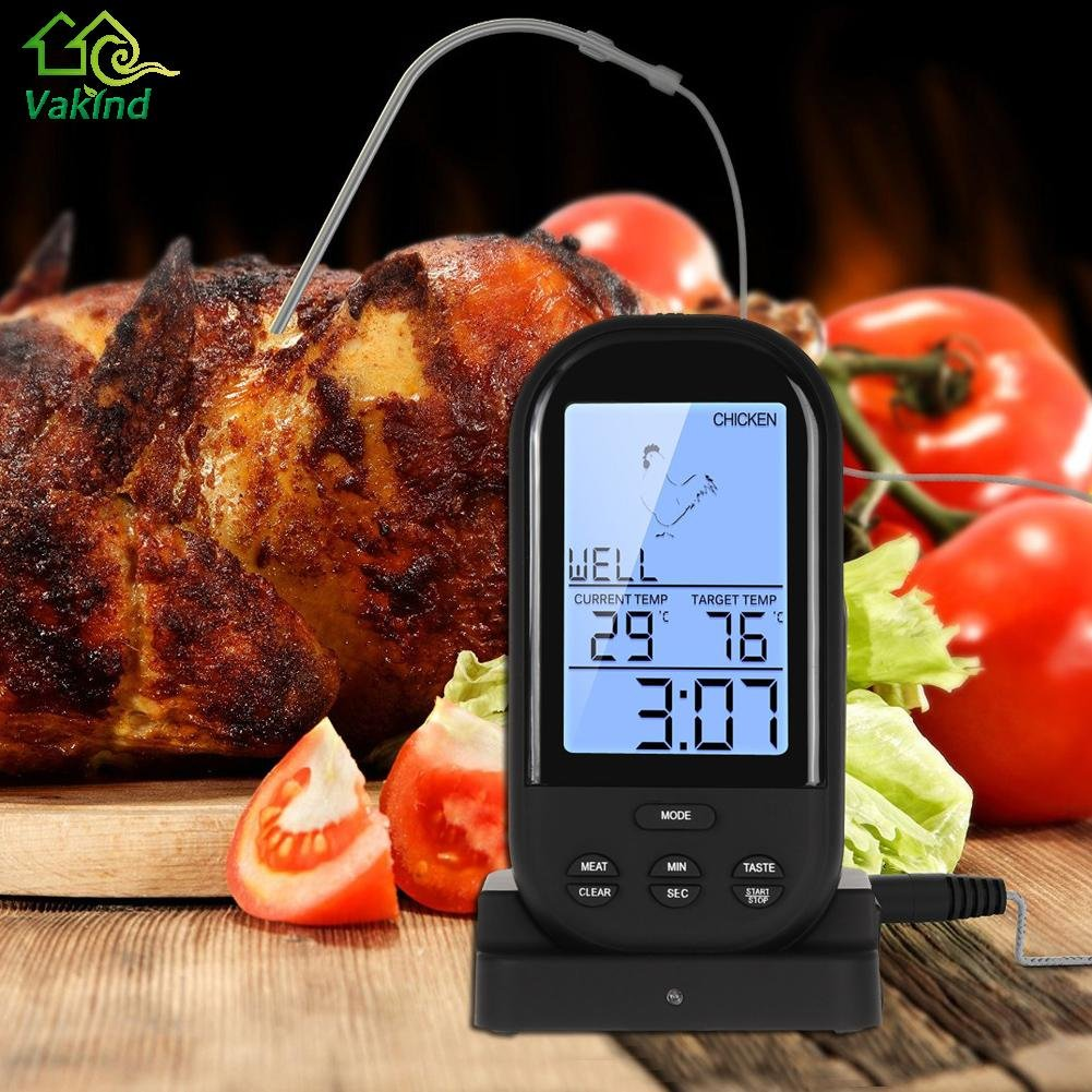 Transport-Accessories - LCD Digital Meat Food Thermometer Wireless Remote Oven Food Cooking Meat BBQ Thermometer Kitchen Accessories