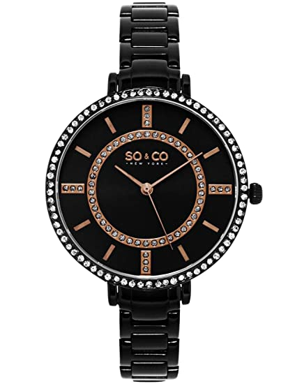 SO & CO New York Diseno de Rayas York para Mujer Reloj de Cuarzo con Esfera