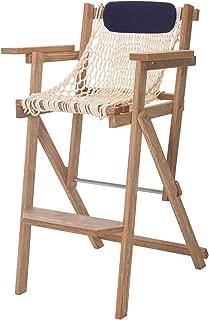 product image for Nags Head Hammocks Cumaru Folding Rope Barstool, Oatmeal DuraCord