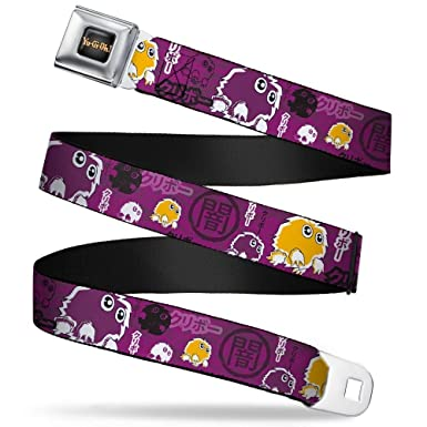 Amazon com: Buckle-Down Seatbelt Belt - KURIBOH/DARK Kanji