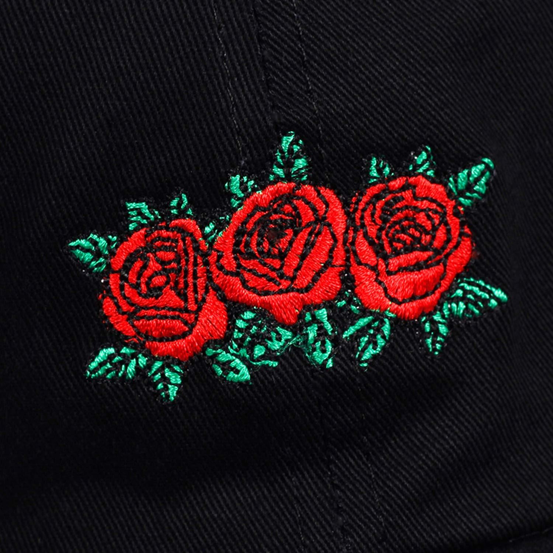 Womens Baseball Cap Red Rose Flower Summer Letter Embroidery Unisex Dad Hat for Men Women Sun Visor 2019 New