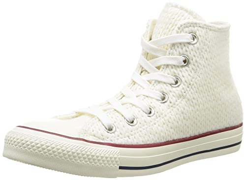 fa863ce5597091 Converse Women s All Star HI Wool-Winter Knit Trainers White Size ...
