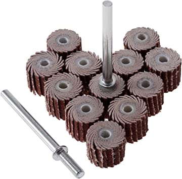 10pcs 12mm 120 Grit Sanding Flap Disc Grinding Wheels Brush Sand Rotary Tools