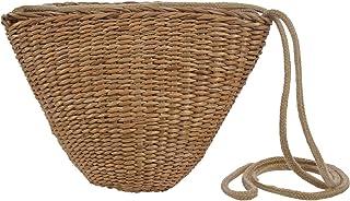 SODIAL Borsa da spiaggia da donna in tessuto bohemien fatto a mano, borsa a tracolla piccola in erba, custodia da viaggio carina da viaggio