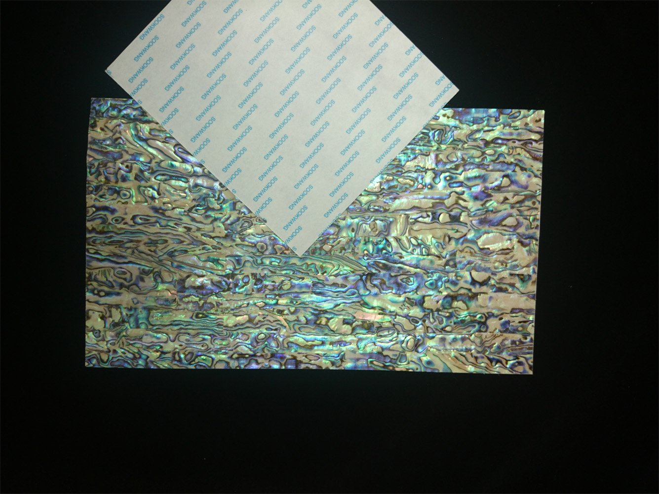 PAUA BLUE sheet (with adhesive tape) shell inlay 240 x 140 x 0.15mm