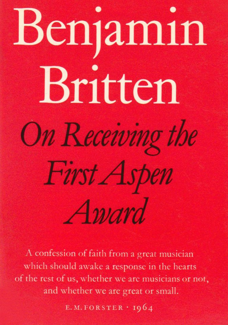 Read Online On Receiving the Aspen Award (Faber Edition) PDF