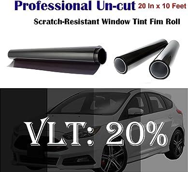 Scelet Uncut Roll Window Tint Film 20/% VLT 10ft Feet Car Home Office Glass