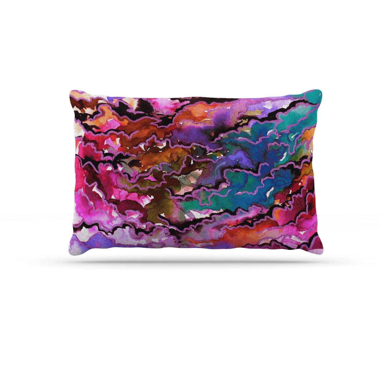 KESS InHouse EBI Emporium Northwest Vibes 5  Purple Pink Dog Bed, 30  x 40