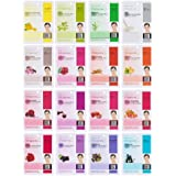 Dermal Korea Collagen Essence Full Face Facial Mask Sheet, 16 Combo Pack by