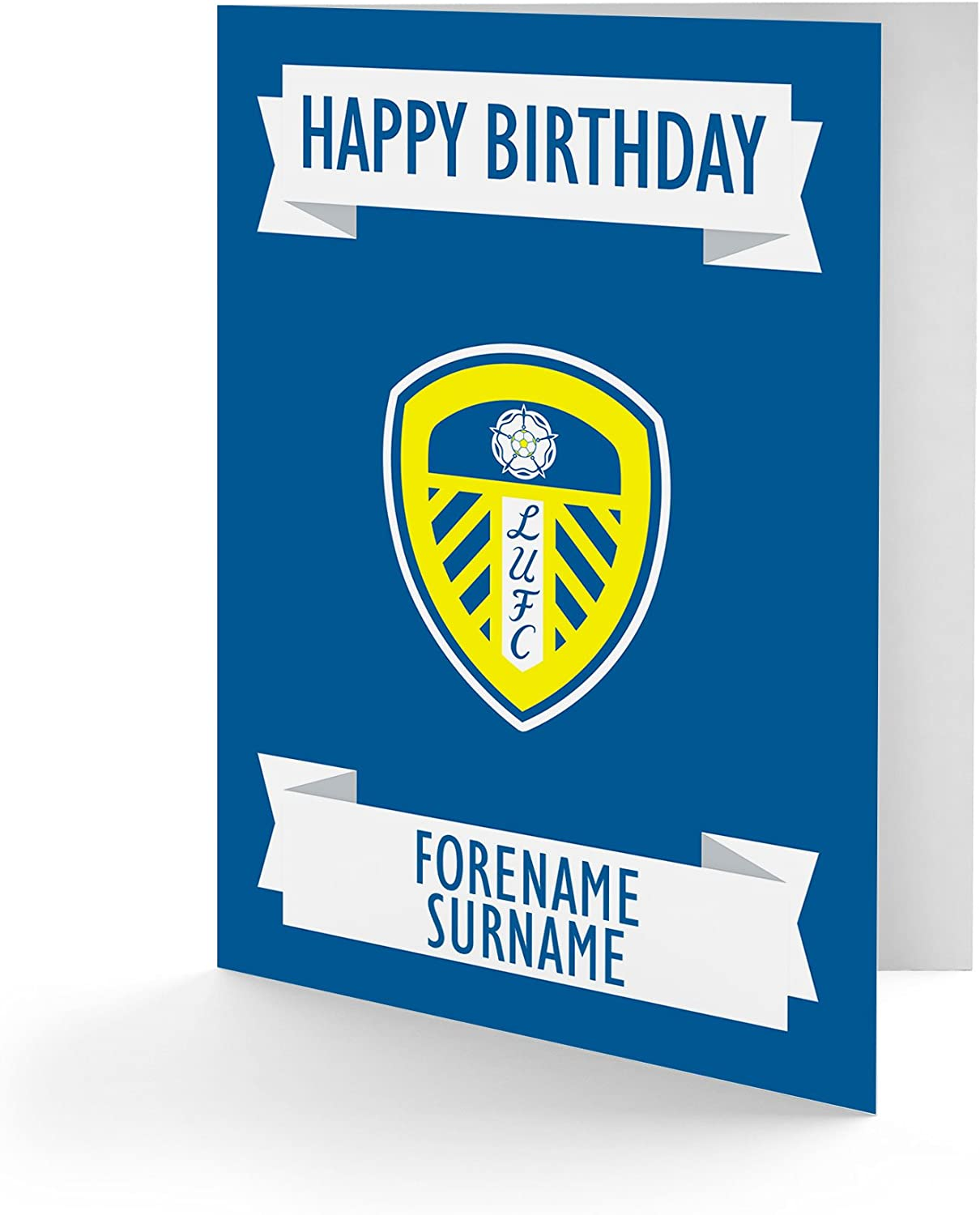 Official Personalised Leeds United FC Crest Birthday Card: Amazon.co.uk:  Office Products