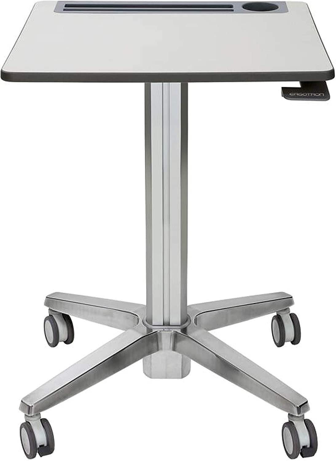 Ergotron – LearnFit Sit-Stand Desk, Tall – Mobile Desk, Grey and Silver