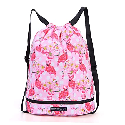 c60b2ebcb4 Image Unavailable. Image not available for. Color  Dry Wet Drawstring Bag  Waterproof String Backpack Swim Pool Beach Travel Gym Bag