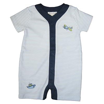 75a954b4a875 Kissy Kissy Baby-Boys Infant Away We Go Stripe Short Playsuit ...