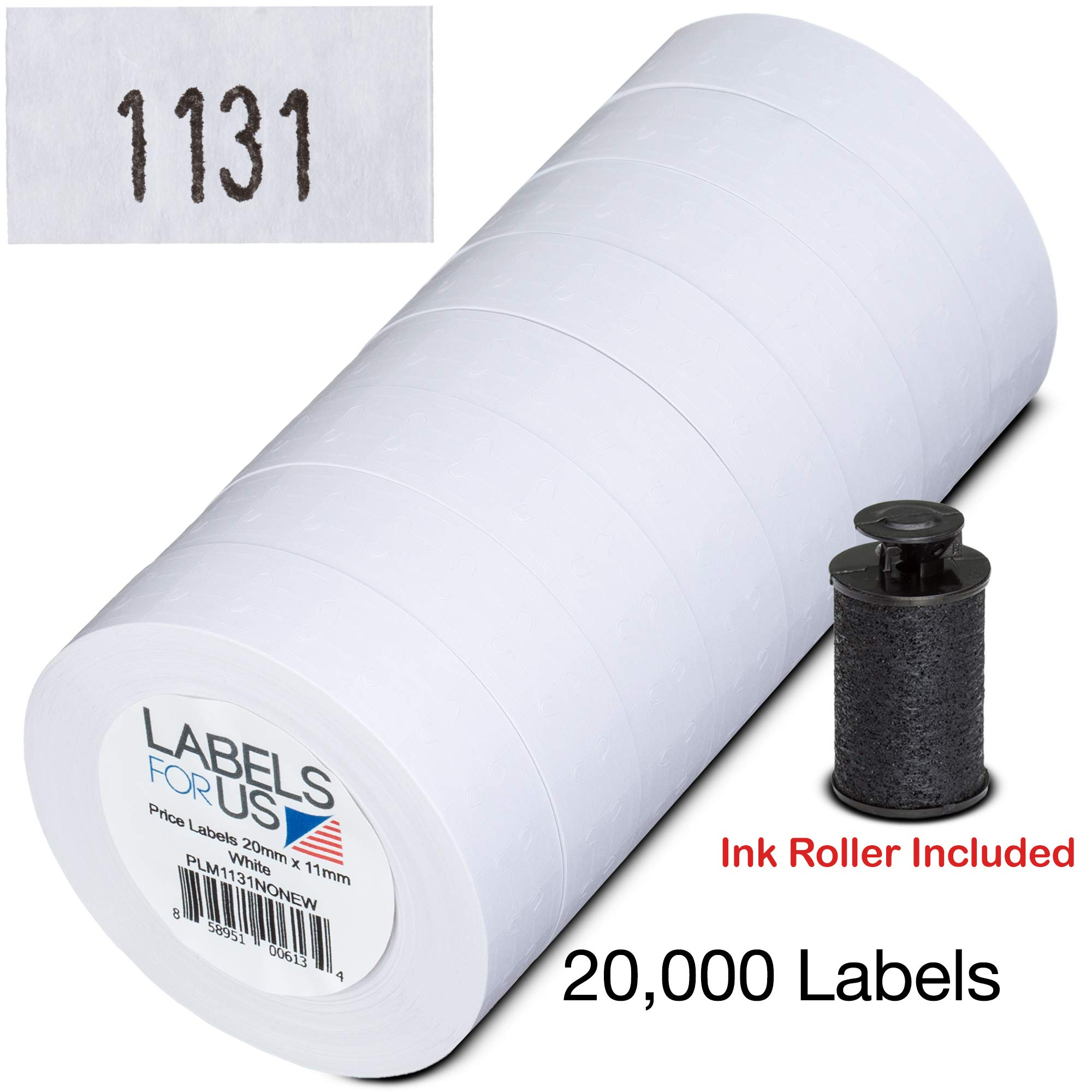 Labels for Us - Monarch 1131 Compatible Labels - White - 20,000 Labels - Pack with 8 rolls by Labels for Us