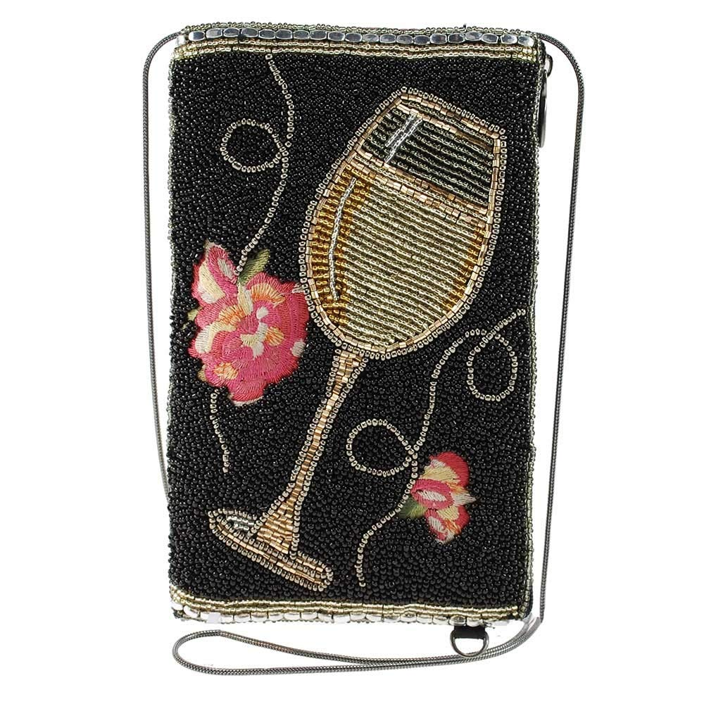 Mary Frances Wine Not Beaded Crossbody Phone Bag, Multi