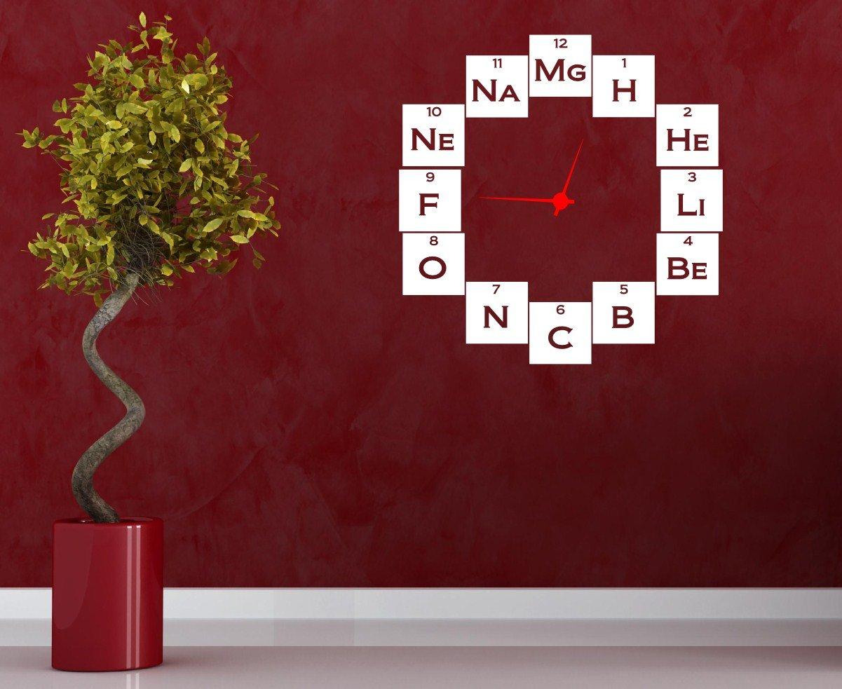 Amazon.com: Química Geeks Reloj con calcomanía decorativo ...