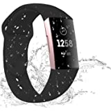 Hotodeal Sport Bands Compatible Charge 3 Bands Breathable Accessories Silicone Replacement Waterproof Bands for Women Men