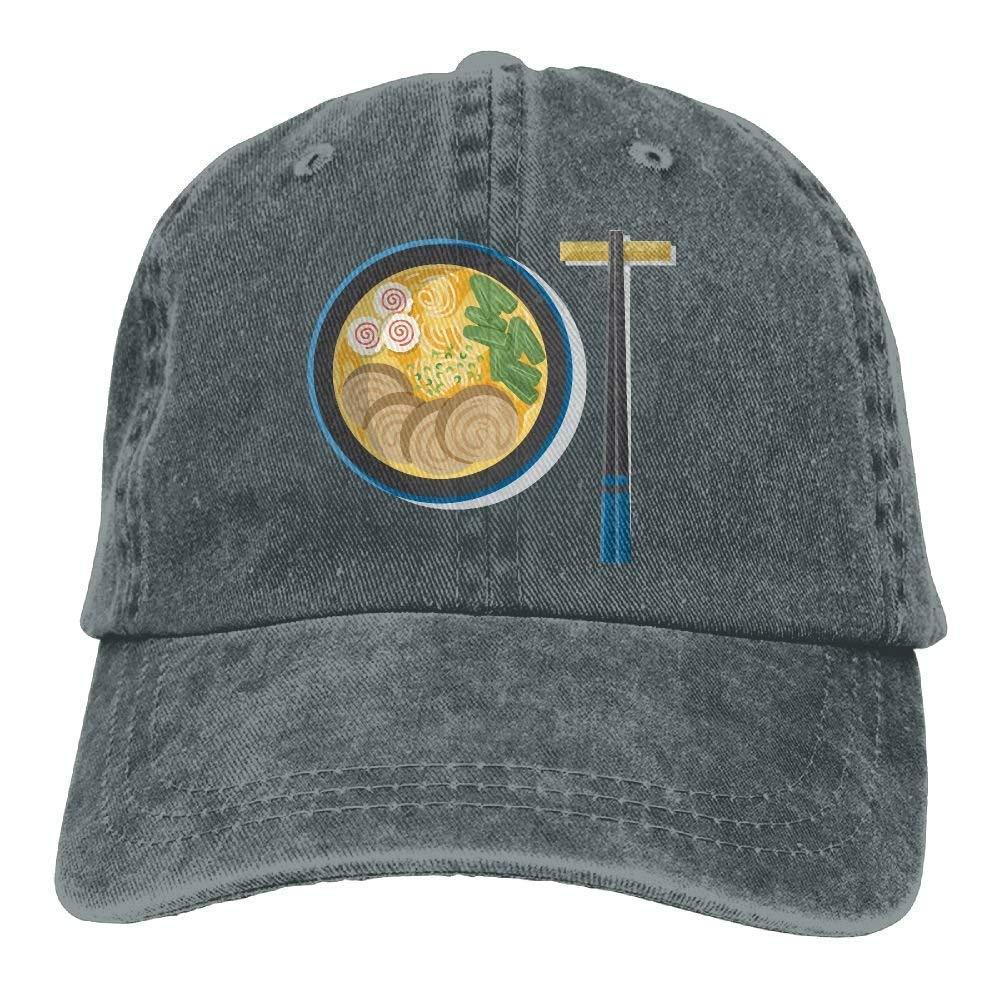 JTRVW Mens Womens Japanese Rn Noodles Cotton Adjustable Peaked Baseball Dyed Cap Adult Custom Casual Baseball Cowboy Hats