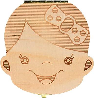 Tefamore Caja del Colección diente para el bebé cajas de ...
