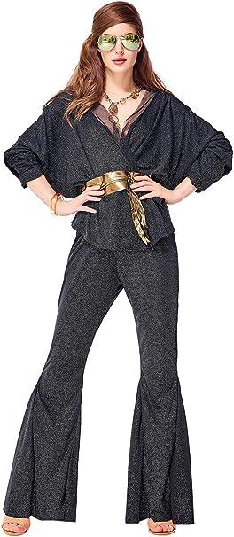 icewalker Disfraz de Disco Dazzler para Mujer Vestido de Hippie ...