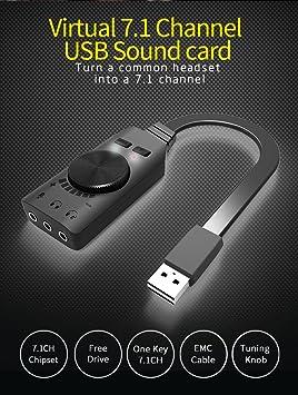 EkoBuy - Tarjeta de sonido USB 7.1 para videojuegos ...