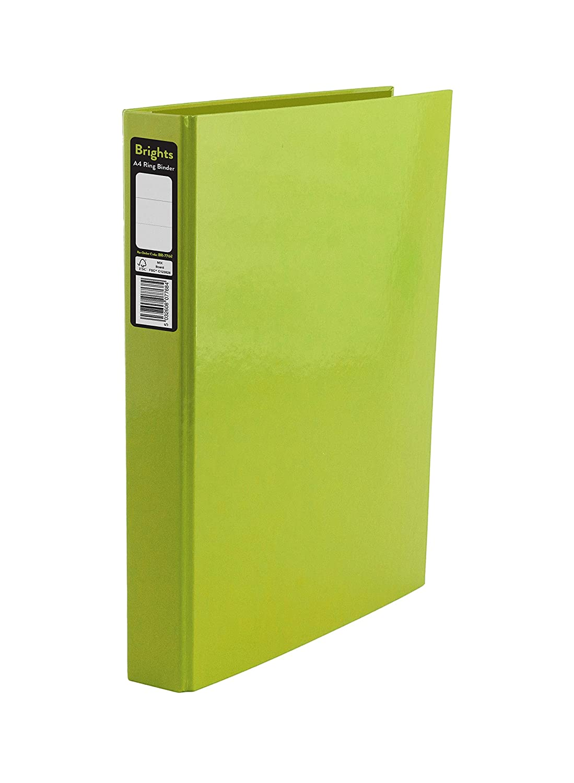 indigo a4 2 ring binder file folder assorted pack of 10 indigo