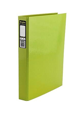 indigo a4 2 ring binder file folder green pack of 10 amazon co