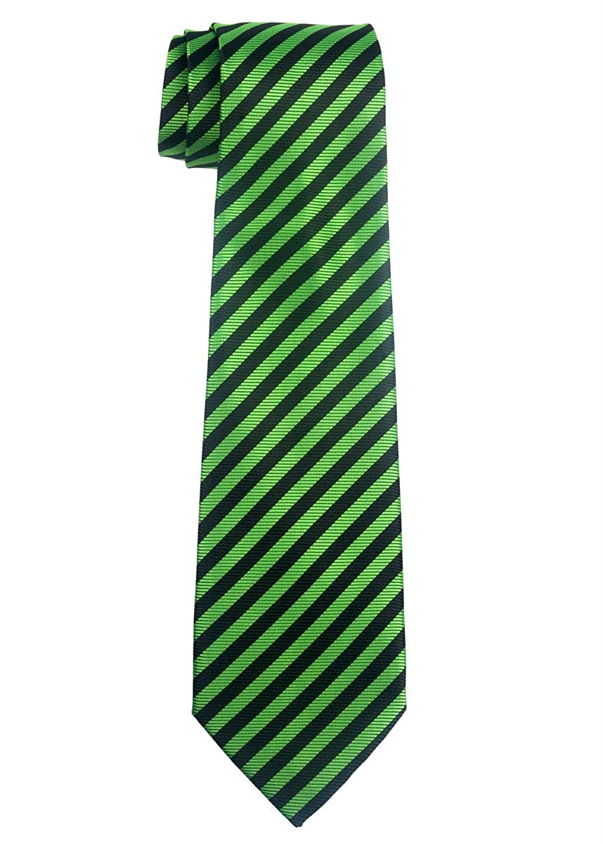 Retreez Striped Woven Microfiber Boy's Tie - 8-10 years - Various Colors RTZ-KDTIE-0013-BLKWHTSTRP