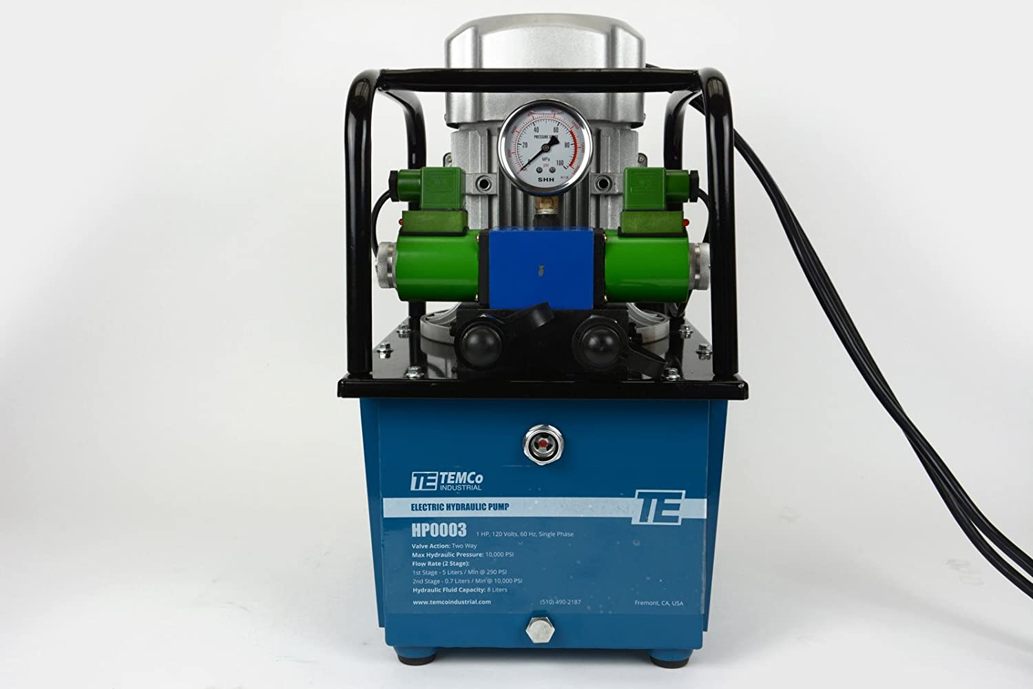 TEMCo HP0003 - Electric Hydraulic Pump Power Pack Unit 2 Stage
