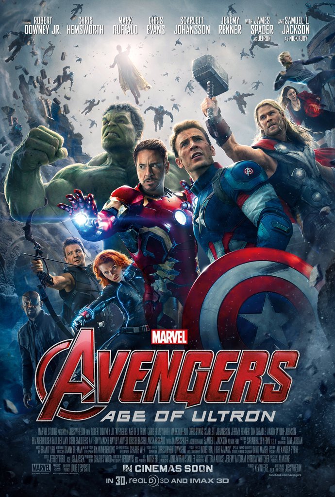 AVENGERS AGE OF ULTRON MOVIE POSTER 2 Sided ORIGINAL INTL FINAL 27x40