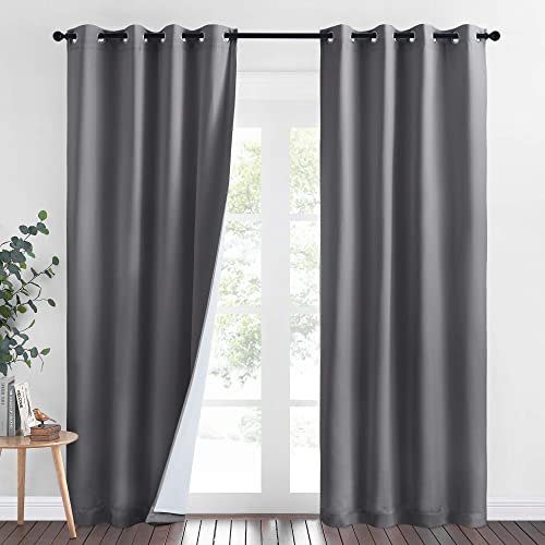 NICETOWN 4-in-1 PM2.5 Particles Noise Blackout Thermal Insulation Curtains