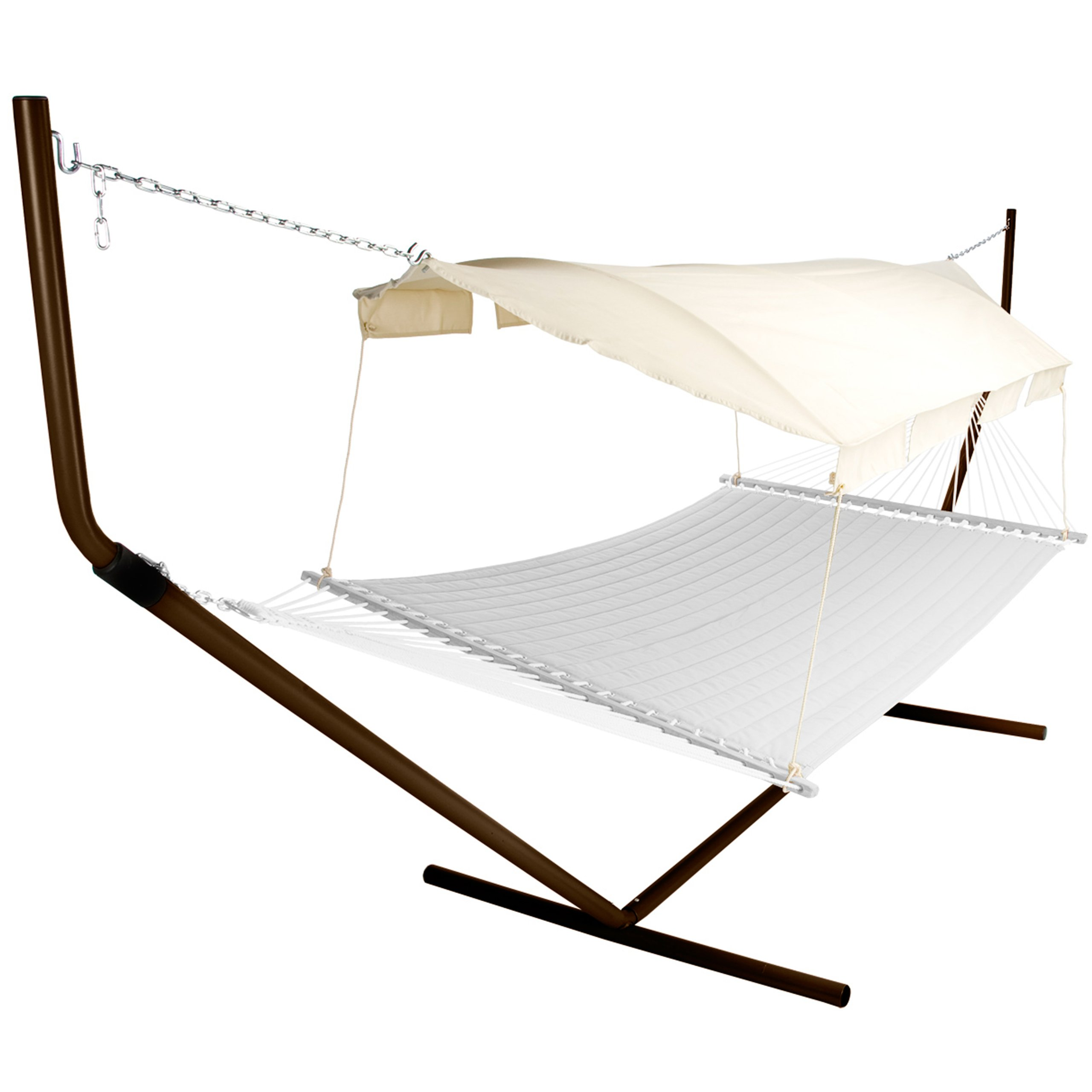 Pawley's Island Hammock Canopy with Tan/Natural Canopy Color and Bronze Support Poles by Pawley's Island (Image #1)