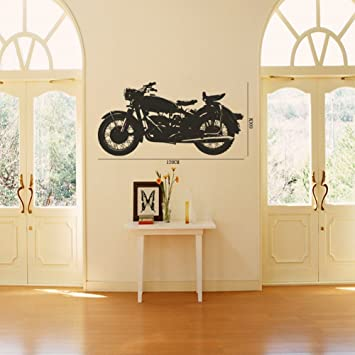 23.6u0026quot; X 47.2u0026quot; Olivia Large Motorcycle Wall Stickers Decals DIY  Black Graphic Vinyl Removable Part 93